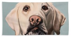 Beach Towel featuring the painting Harley by Nathan Rhoads