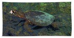 Hawaiian Sea Turtle Beach Towel