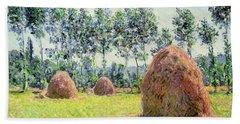 Haystacks At Giverny Beach Towel