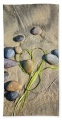Heart Among The Stones Beach Towel