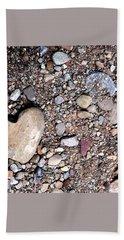 Heart Of Stone Beach Towel by Danielle R T Haney