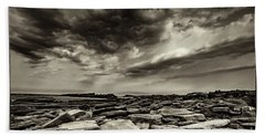Here Comes The Storm 06 Beach Towel by Arik Baltinester