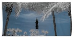 Hillsboro Inlet Lighthouse Beach Towel by Louis Ferreira