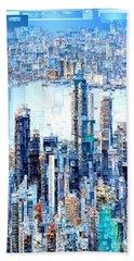 Hong Kong Skyline Beach Sheet