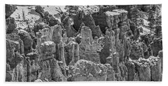 Hoodoos After A Snowfall Beach Towel