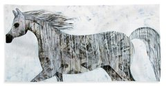 Horse Paint Beach Towel