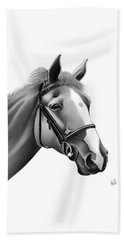 Horse Beach Towel by Rand Herron