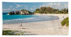 Horseshoe Bay In Bermuda Beach Sheet