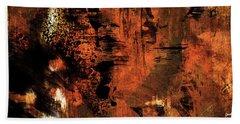 Hot Desert Night - Abstract Landscape Desert Painting Beach Towel