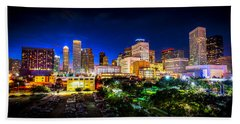 Beach Sheet featuring the photograph Houston City Lights by David Morefield