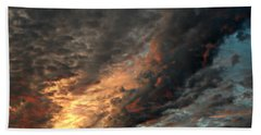How About Them Clouds Beach Towel