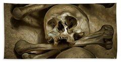 Human Skull And Bones Beach Towel