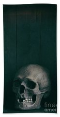 Human Skull Beach Towel