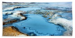 Hverir Steam Vents In Iceland Beach Towel