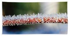 Ice Crystals Beach Towel by Tiffany Erdman