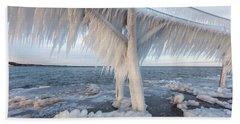 Iced Over Beach Towel