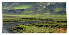 Icelandic Landscape Beach Towel
