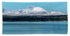 Icing On The Mountain Beach Towel