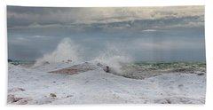 Icy Blast Beach Towel