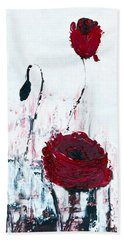 Beach Towel featuring the painting Impressionist Floral B8516 by Mas Art Studio