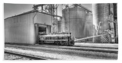 Beach Towel featuring the photograph Industrial Switcher 5405 by Jim Thompson