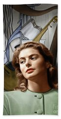 Beach Towel featuring the photograph Ingrid Bergman by Granger