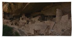 Beach Towel featuring the photograph Inside View Of Cliff Palace by Debby Pueschel