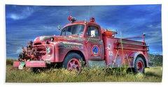 International Fire Truck 2 Beach Towel