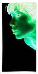 Inverted Realities - Green  Beach Towel