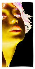 Inverted Realities - Yellow  Beach Towel