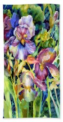 Iris II Beach Towel