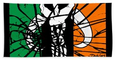 Irish Mandalorian Flag Beach Towel