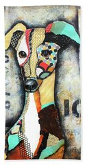 Italian Greyhound Beach Towel