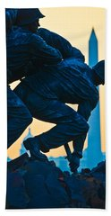 Iwo Jima Memorial At Dusk Beach Towel