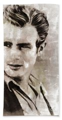 James Dean Hollywood Legend Beach Towel by Mary Bassett