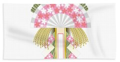 Japanese Newyear Decoration Beach Towel