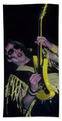 Jay Jay French Of Twisted Sister Beach Towel