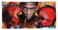 Jean Michel Basquiat Beach Towel