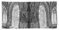 Jeronimos Monastery Belem Lisbon Beach Towel