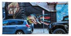 Jersey City Mural # 7 Beach Sheet
