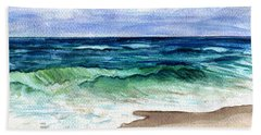 Beach Sheet featuring the painting Jersey Shore by Clara Sue Beym