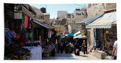 The Old City Of Jerusalem 1 Beach Sheet by Isam Awad
