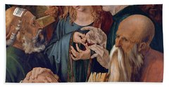 Jesus Among The Doctors Beach Towel