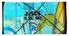 Jesus Is The Way Beach Towel