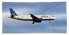 Jetblue Airways Airbus A320-232 Beach Towel