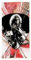 Jimmy Page Led Zeppelin Art Beach Towel
