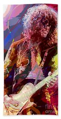 Jimmy Page Les Paul Gibson Beach Towel