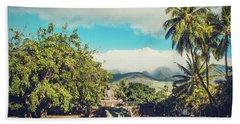 Beach Towel featuring the photograph Jodo Shu Mission Lahaina Maui Hawaii by Sharon Mau