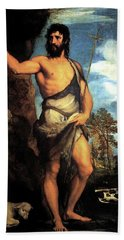 John The Baptist Beach Towel