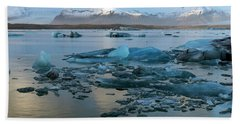 Beach Sheet featuring the photograph Jokulsarlon, The Glacier Lagoon, Iceland 5 by Dubi Roman